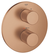 Grohtherm 3000 Cosmopolitan Thermostat with integrated 2-way diverter  for bath or shower with more than one outlet 19468DL0