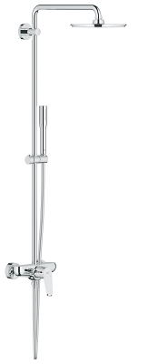 Euphoria XXL Eurodisc Cosmopolitan System 210 Shower system with single lever mixer for wall mounting 23058003