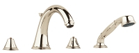 Geneva Four-Hole Roman Bathtub Faucet with Handshower 25506BE1