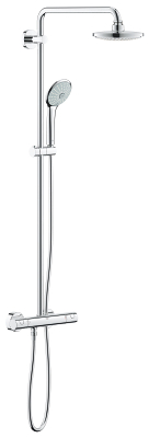 Euphoria System 180 Shower system with thermostat for wall mounting 27615000