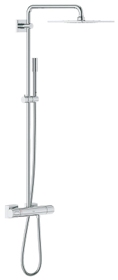 "Rainshower F-series System 10"" Shower system with thermostat for wall mounting 27569000"
