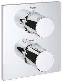 Grohtherm F Safety Mixer trim with integrated 2-way diverter 27618000