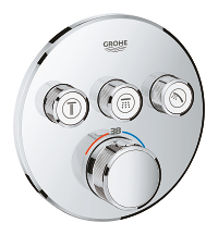 Grohtherm SmartControl Thermostat for concealed installation with 3 valves 29121000