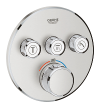 Grohtherm SmartControl Thermostat for concealed installation with 3 valves 29121DC0