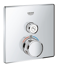 Grohtherm SmartControl Thermostat for concealed installation with one valve 29123000