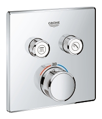 Grohtherm SmartControl Safety mixer  for concealed installation with 2 valves 29124000