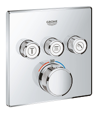 Grohtherm SmartControl Thermostat for concealed installation with 3 valves 29126000