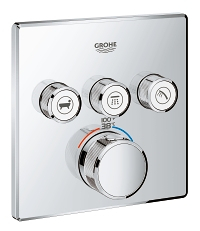 Grohtherm SmartControl Triple Function Thermostatic Trim with Control Module 29142000