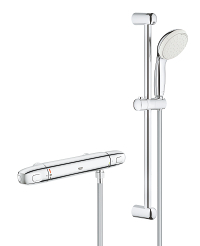 "Grohtherm 1000 New Thermostatic shower mixer 1/2"" with shower set 34152004"