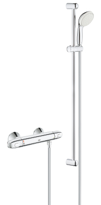 "Grohtherm 1000 Thermostatic shower mixer 1/2"" with shower set 34256004"