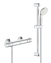 "Grohtherm 800 Thermostatic shower mixer 1/2"" with shower set 34565001"