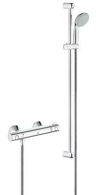 "Grohtherm 800 Thermostatic shower mixer 1/2"" with shower set 34566000"
