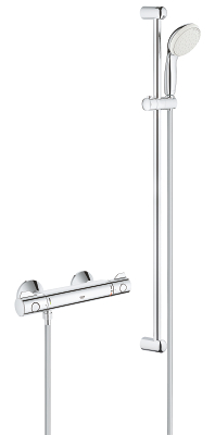 "Grohtherm 800 Thermostatic shower mixer 1/2"" with shower set 34566001"