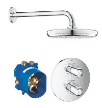 Grohtherm 1000 Perfect shower set met Tempesta 210 34582001