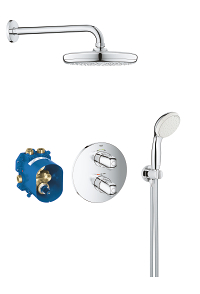 Grohtherm 1000 Perfect shower set with Tempesta 210 34614001