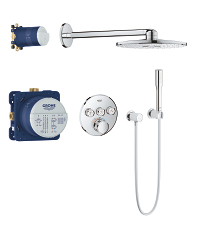 Grohtherm SmartControl Perfect shower set with Rainshower SmartActive 310 34705000