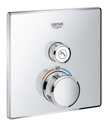 grohe grohtherm smartcontrol thermostat for concealed. Black Bedroom Furniture Sets. Home Design Ideas