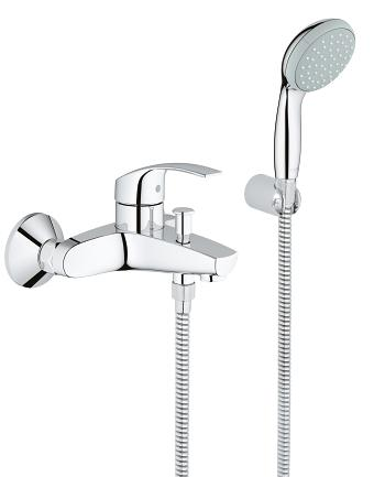 grohe eurosmart mitigeur monocommande 1 2 bain douche. Black Bedroom Furniture Sets. Home Design Ideas