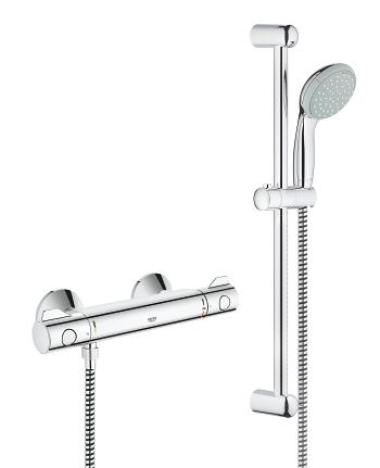 grohe grohtherm 800 safety shower mixer 1 2 with shower. Black Bedroom Furniture Sets. Home Design Ideas