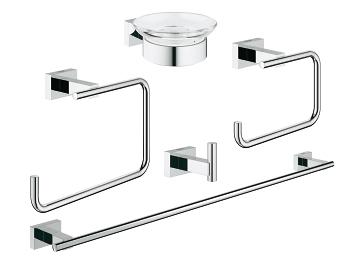 Exceptionnel GROHE   Essentials Cube Master Bathroom Accessories Set 5 In 1 40758 ...
