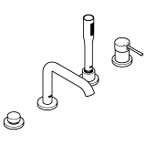 Essence Four-Hole Bathtub Faucet with Handshower 19578 00A